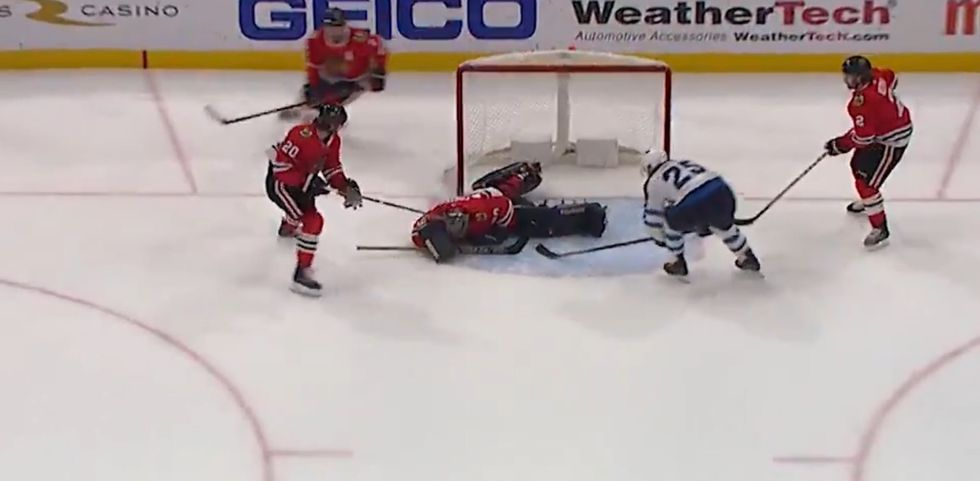 Out Of Options, The Blackhawks Had To Play A 36-Year-Old Accountant As Their Goalie