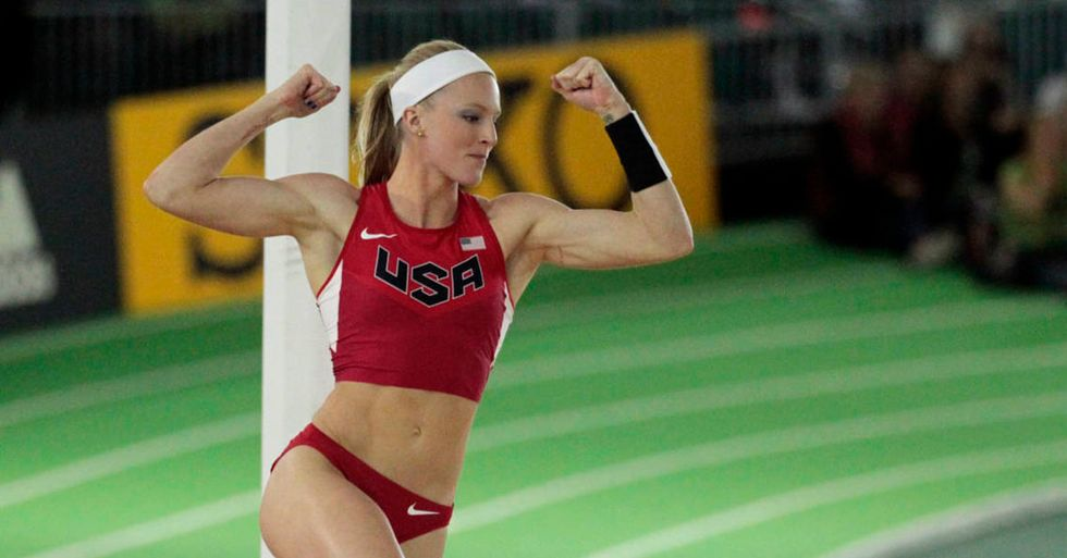 A World-Class Pole Vaulter Explains Why She Doesn't Care About 'Pretty' In Her Action Shots