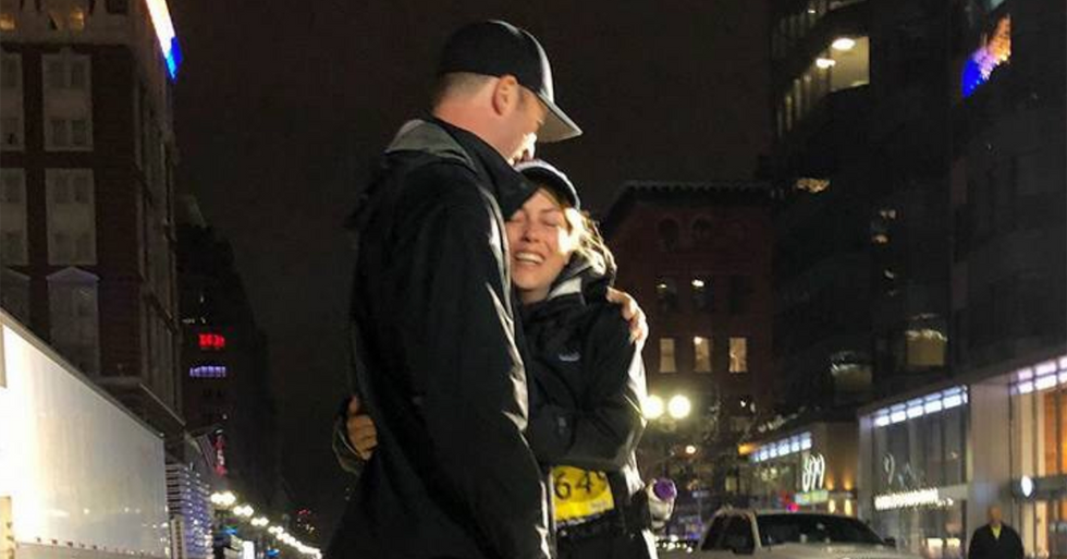 It Took Her 13 Hours, But The Last-Place Finisher At The Boston Marathon Couldn't Be Happier