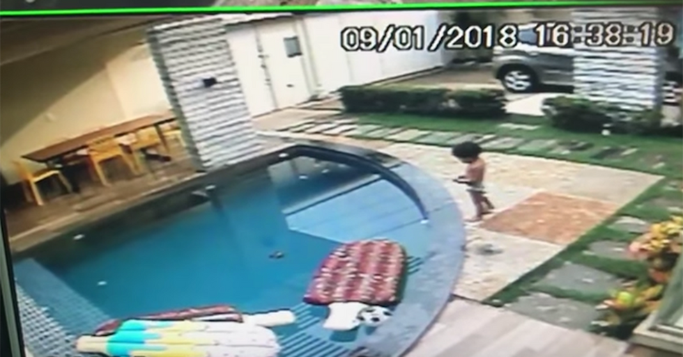 Random act of beauty: 7-year-old jumps into pool to try and save drowning toddler.