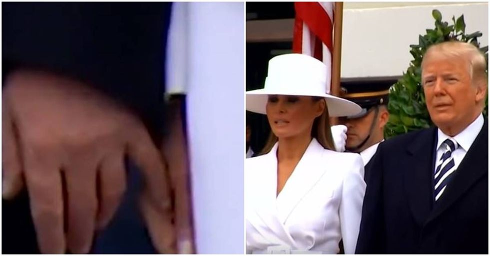The Trumps Awkwardly Attempt Public Affection During A Visit With The French President