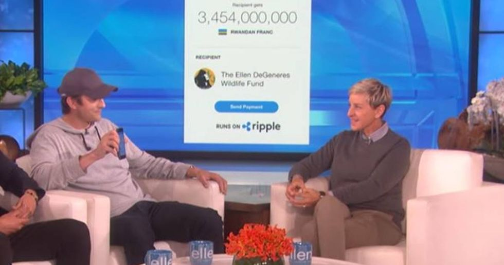 Ashton Kutcher Suprises Ellen DeGeneres With A $4 Million Donation To Her Wildlife Fund