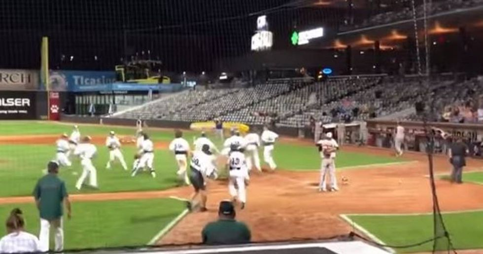 High School Pitcher Skips His Team's Celebration To Console His Friend On The Opposing Team