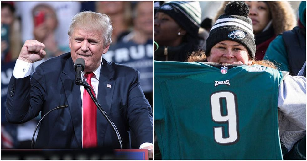 Eagles Fans Mysteriously Absent At Trump's 'Celebration of America'
