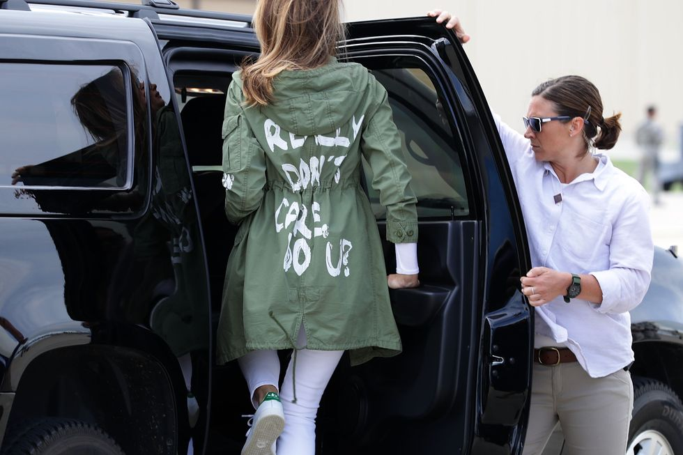 Melania Trump Wears 'I Don't Really Care' JacketOn A Trip To See Detained Children At The Border