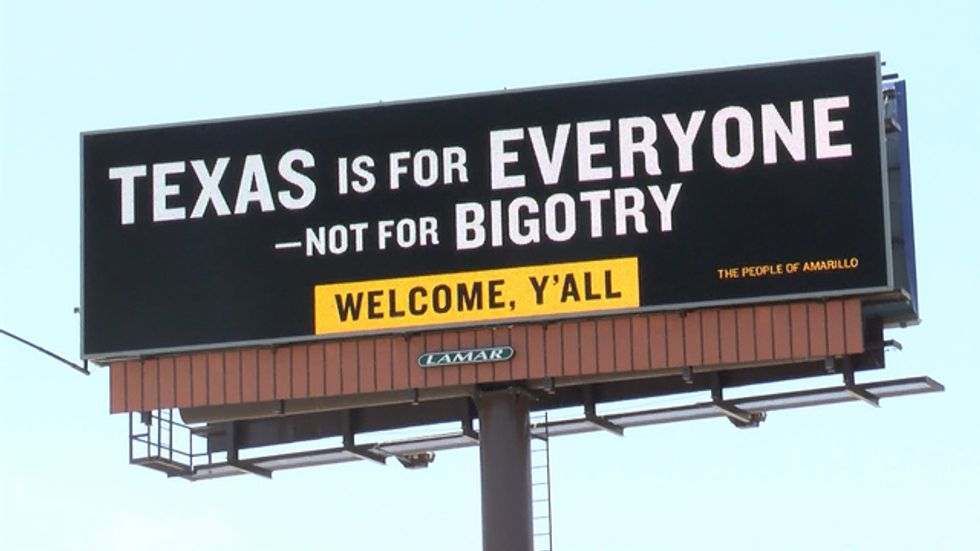 After A Billboard Urged Liberals To Leave Texas, An Amarillo Resident Fought Back With Positivity