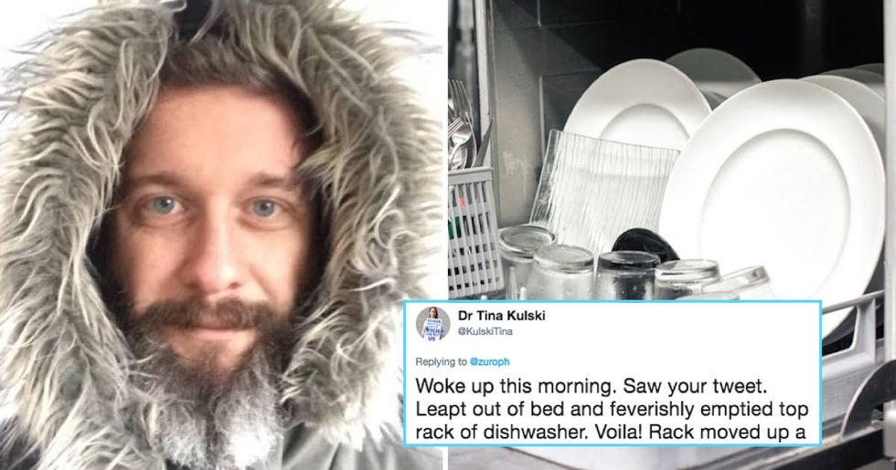 "Man's seemingly obvious ""dishwasher hack"" is blowing everyone's minds."