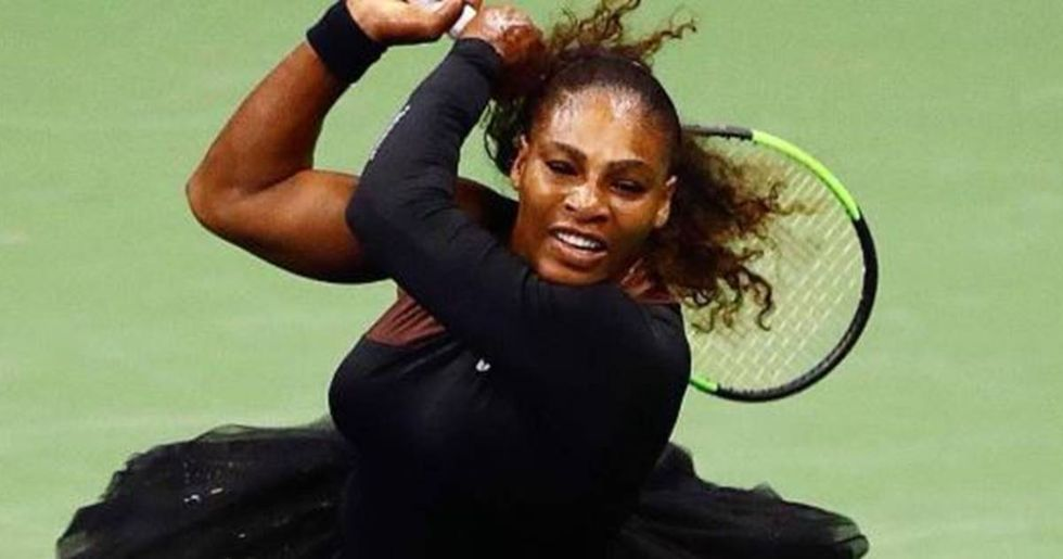 Serena Williams responds to backlash about her catsuit by competing in a tutu.