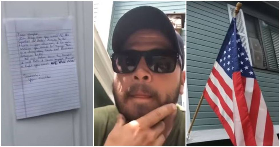 Veteran Has A Stern Response To Neighbor Who Demanded He Take Down His American Flag
