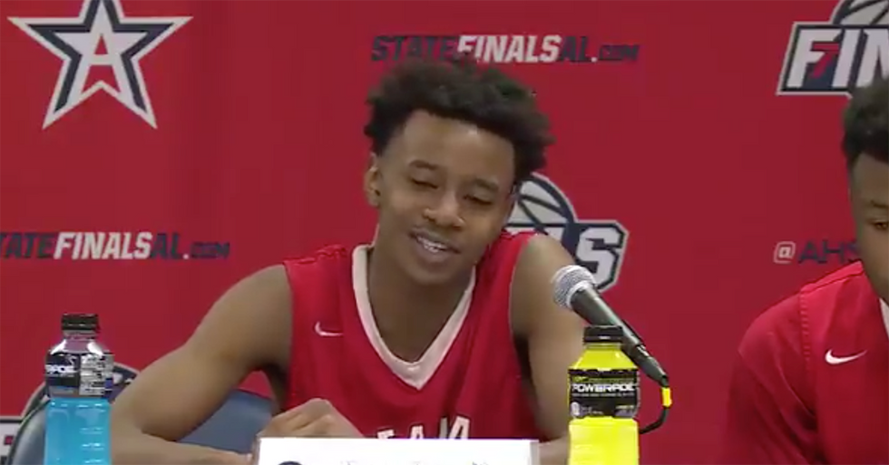 High School Basketball Player Brings Tears To His Coach's Eyes With Touching Postgame Comments