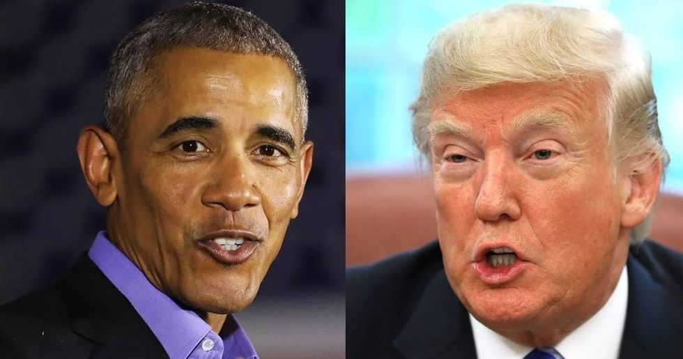 Obama finally called out trump by name, and his response was super corny