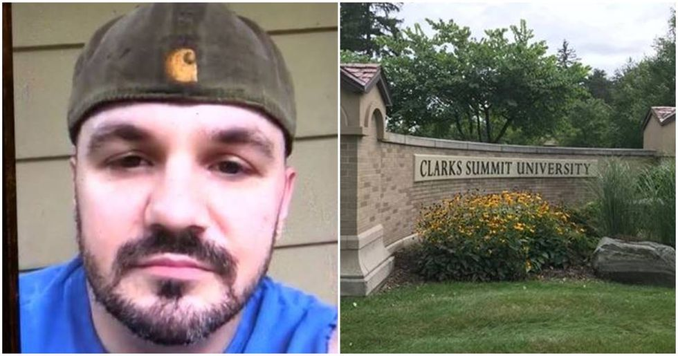 Christian college rejects a Navy veteran six credits shy of graduation for being gay.