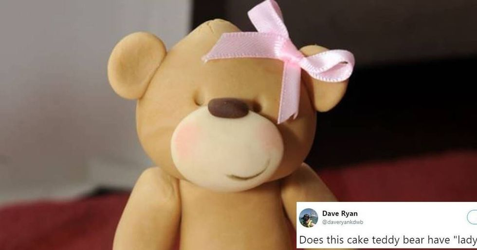 A woman freaked out over the 'lady parts' on the bears on her daughter's christening cake.