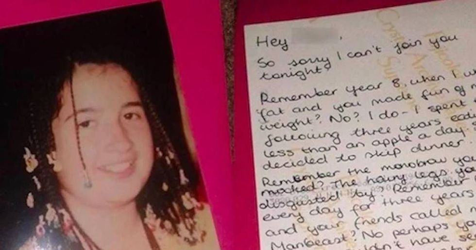 A woman got asked out by the guy who bullied her as a kid, so she stood him up with this awesome note.