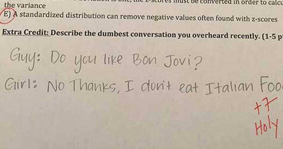 A teacher'sviral extra credit questions lure students into a phenomenally humiliating prank.