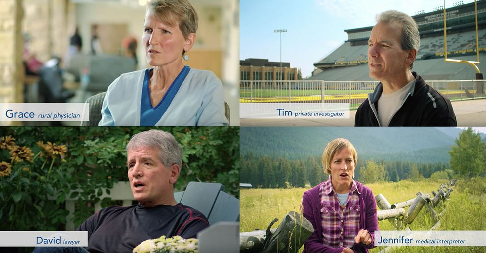 Six siblings appeared in this campaign ad to endorse their brother's opponent.