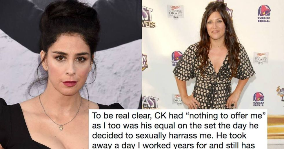 Louis C.K. accuser calls out Sarah Silverman after her reveal of 'consensual' masturbation.