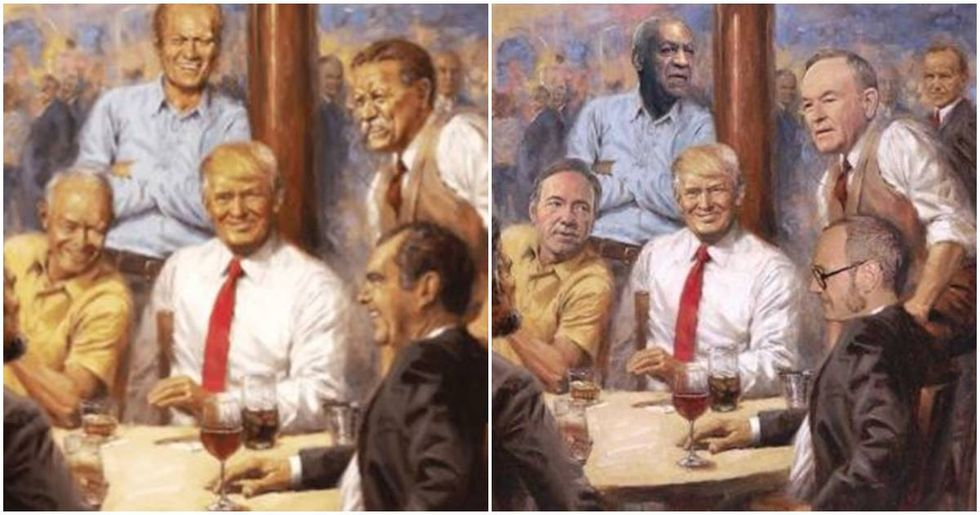 People are fixing Trump's tacky fantasy painting and the new artwork is hilarious.