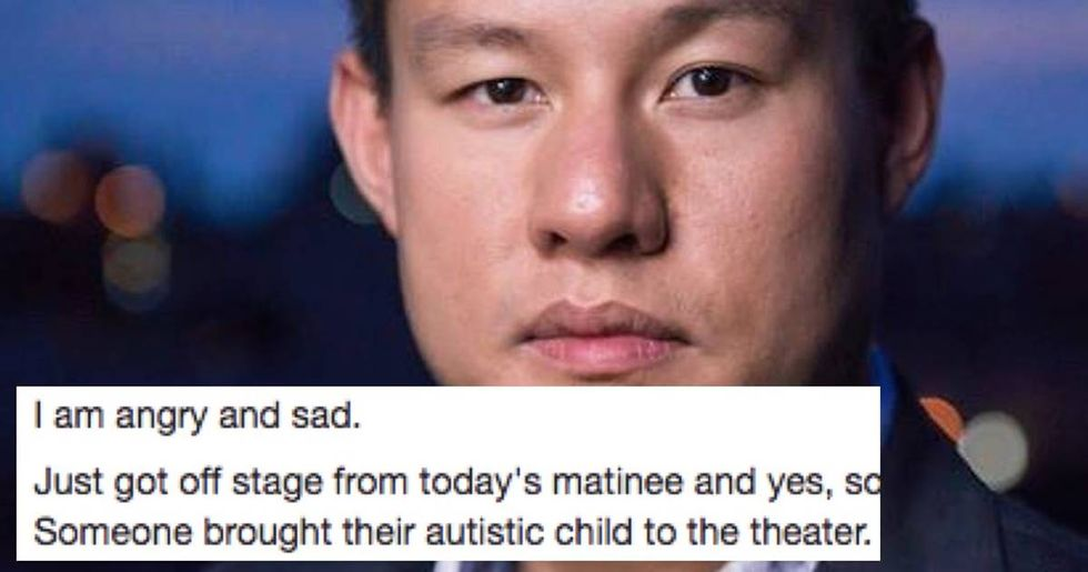 Broadway actor writes letter to the autistic child who interrupted his performance.