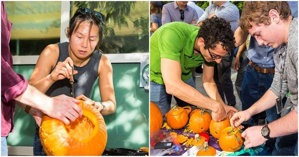This is what happens when NASA engineers have a pumpkin-carving contest.