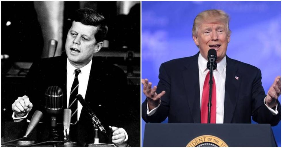 A new campaign launched by the JFK Foundation takes a pretty obvious shot at Donald Trump.