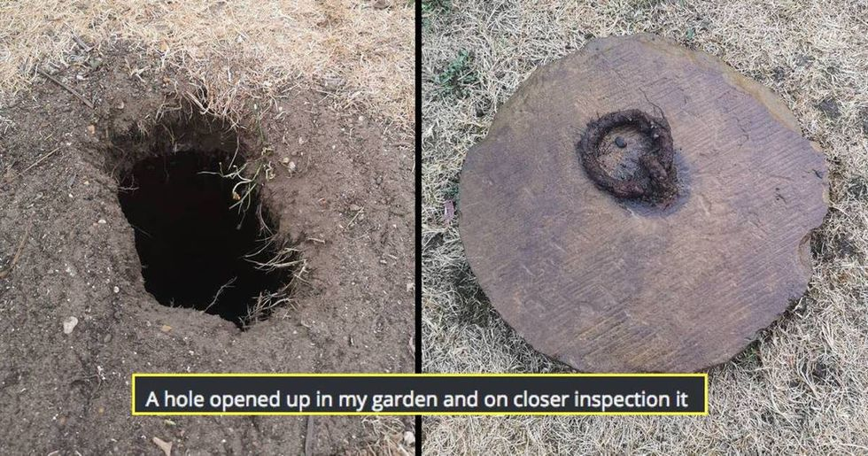Guy finds mysterious hole in yard. The internet warns him to stop digging immediately.
