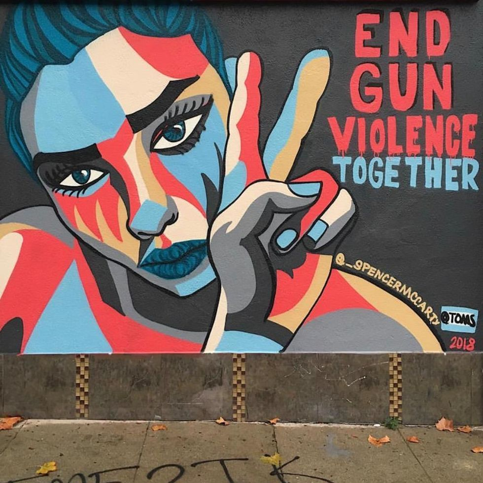 TOMS is commissioning powerful gun violence murals all across America.