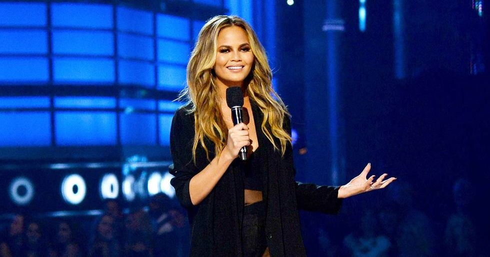 Chrissy Teigen found a ridiculously cute way to solve a problem all parents of toddlers face.