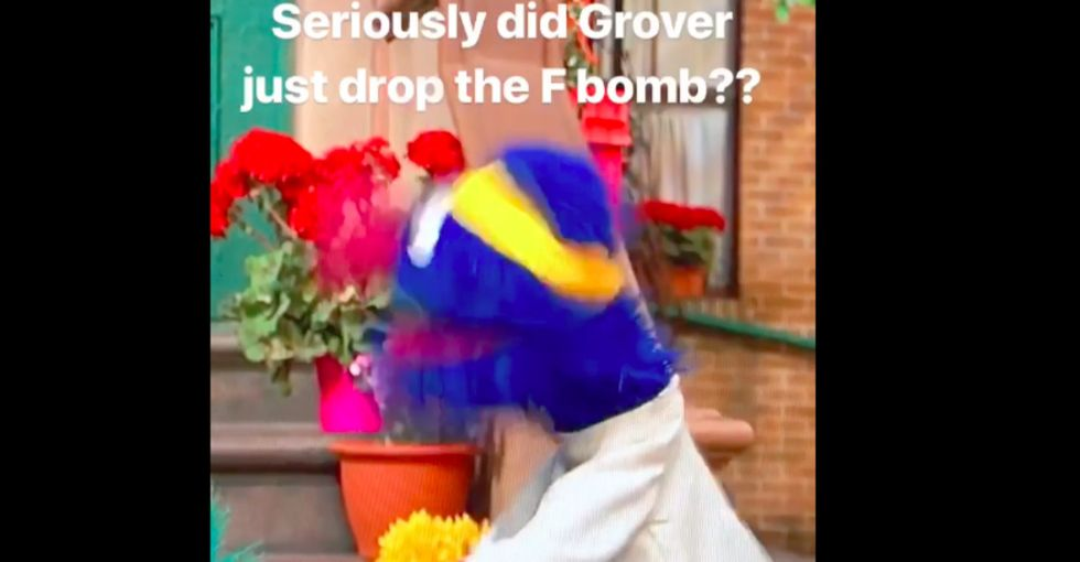 A hilarious Sesame Street clip has people split over whether they arehearing Grover drop a massive f-bomb.