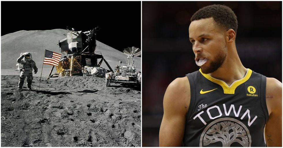 Steph Curry said the moon landing was a hoax and NASA isn't having it.