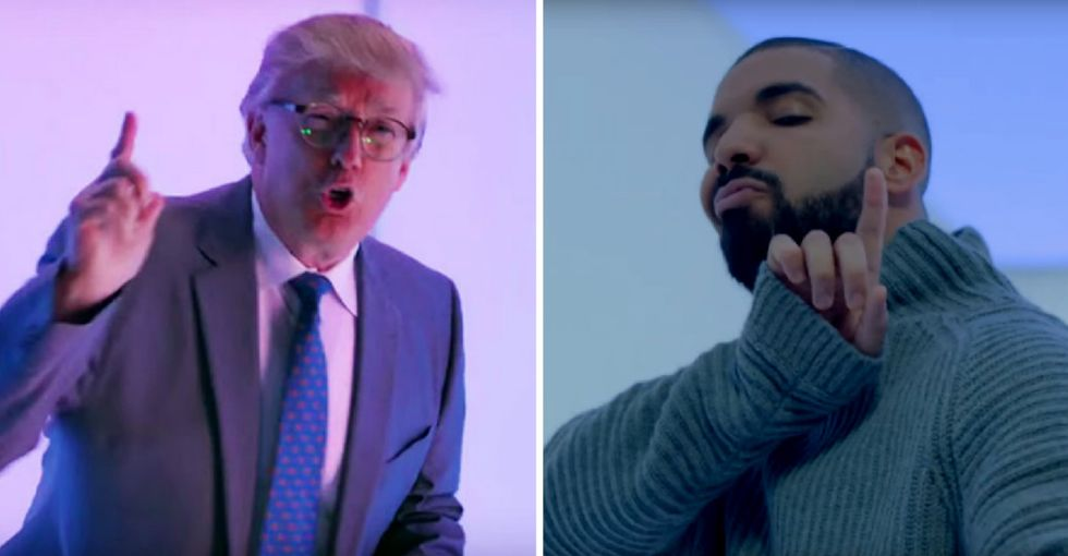 Let's debunk the ridiculous myth that Trump and Drake are both 'generous' men in private.