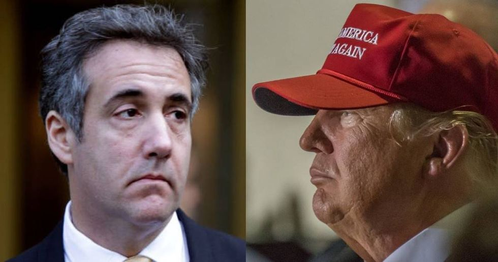 Trump's morning tweets about Michael Cohen are basically an admission of guilt. Buckle up.