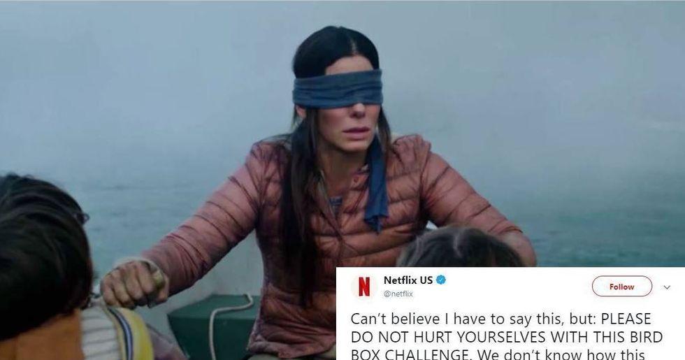 The #BirdBoxChallenge is so dangerous, Netflix is begging people to stop it immediately.