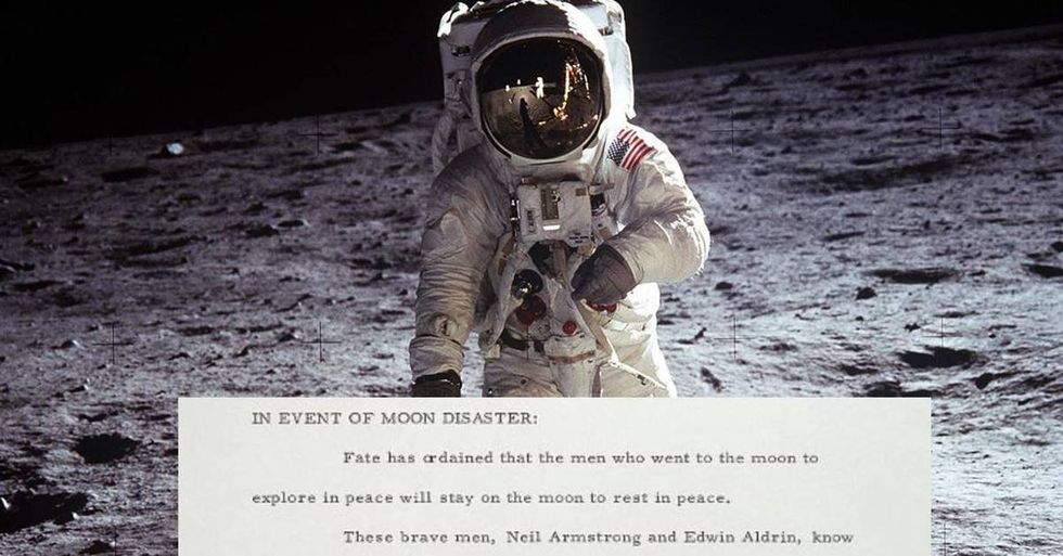 The Apollo 11 mission was so risky, Nixon had a speech ready in case the astronauts were left to die on the moon.