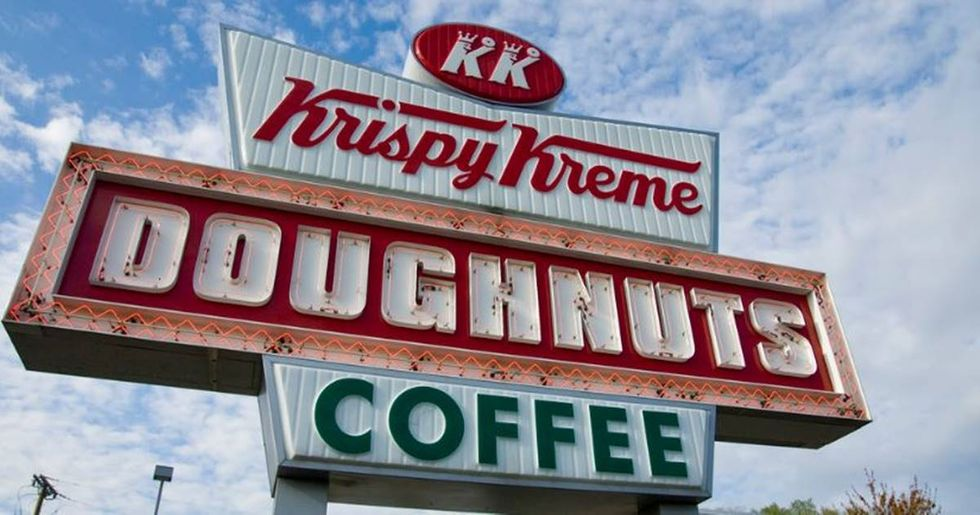 Police officers from across the country are coming together to grieve over a burning doughnut truck.