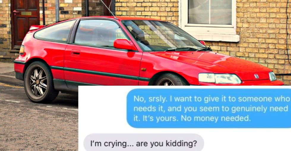 This couple set the perfect 'trap' to help a stranger in need.