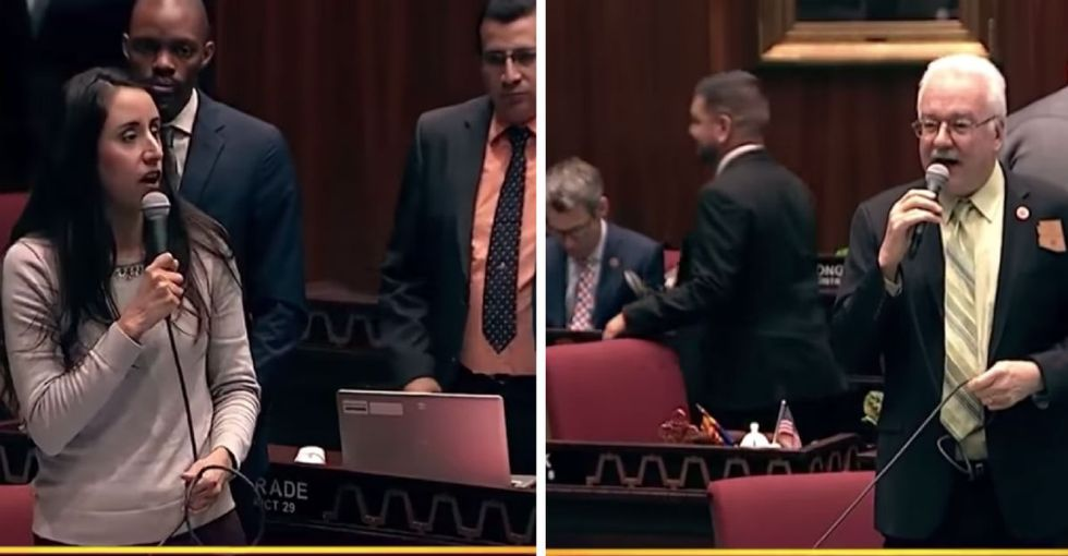 This Atheist lawmaker stood up to a 'Christian bully' in front of the Arizona state legislature.