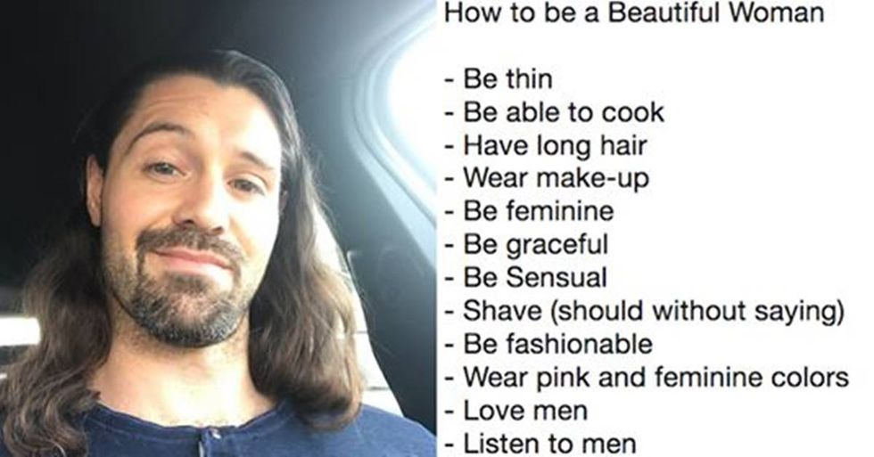 Guy's sexist list explaining how to be a 'beautiful woman' blows up in his face.