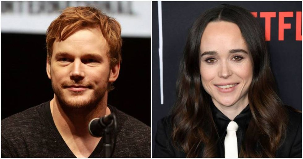 Ellen Page called out Chris Pratt for his homophobic church, and his response proves her point.