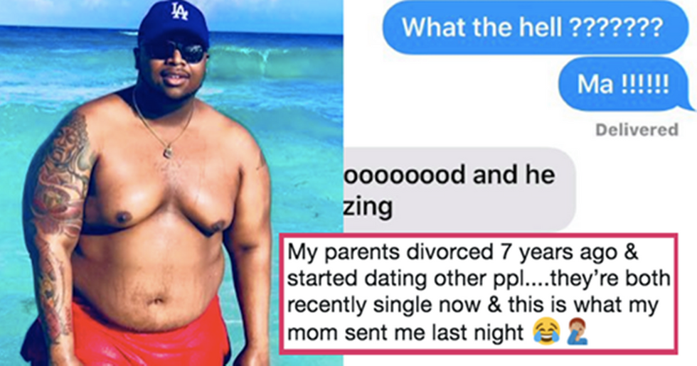 Guy discovers his divorced parents are dating and the internet is thirsty on their behalf.