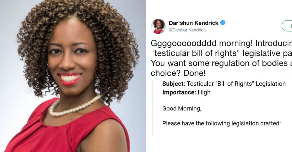 "Georgia lawmaker proposes ""testicular bill of rights"" in response to state's 'heartbeat' abortion ban."