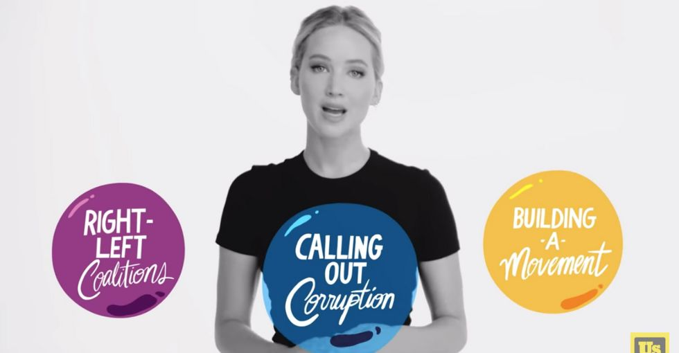 Jennifer Lawrence explains why government corruption is the biggest issue of our time.