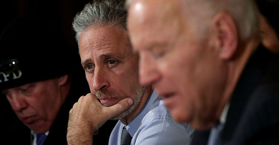 9/11 survivors still aren't getting the healthcare they need. But Jon Stewart isn't giving up on them.