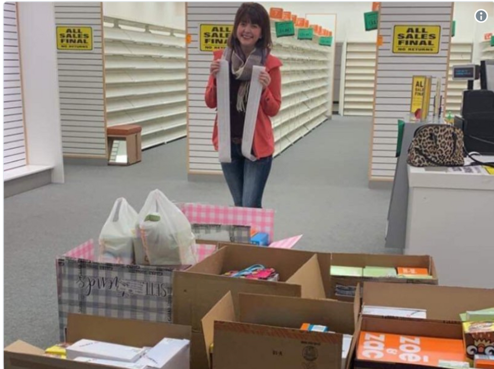 This woman bought 204 pairs of shoes and donated them to Nebraska flood victims.