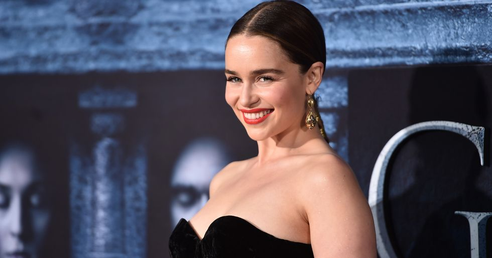 'Game of Thrones' star Emilia Clarke releases photos of herself after emergency brain surgery for two aneurysms.