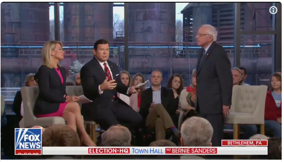 Bernie Sanders showed up to a Fox News town hall and completely won