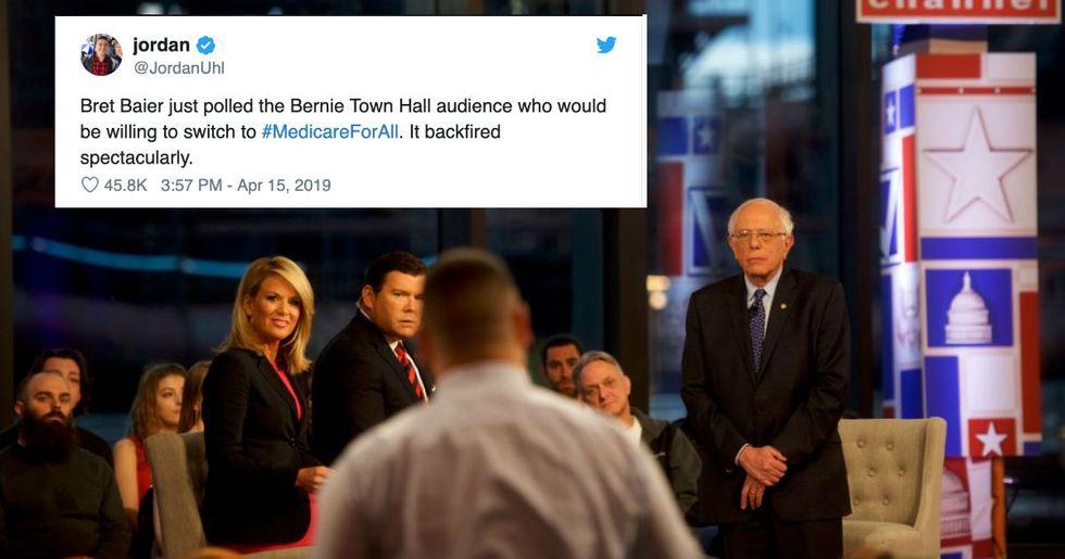 Bernie Sanders showed up to a Fox News town hall and completely won over the audience.