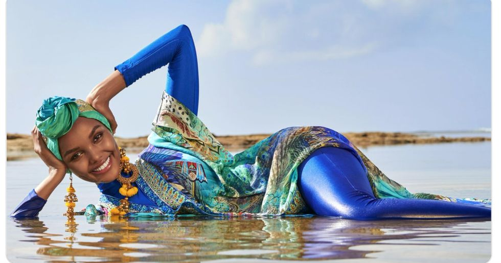 """For the first time ever, the Sports Illustrated swimsuit issue will feature a """"burkini babe."""""""