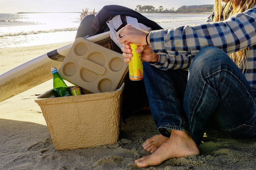 No more styrofoam: Igloo is releasing a $10 biodegradable cooler.