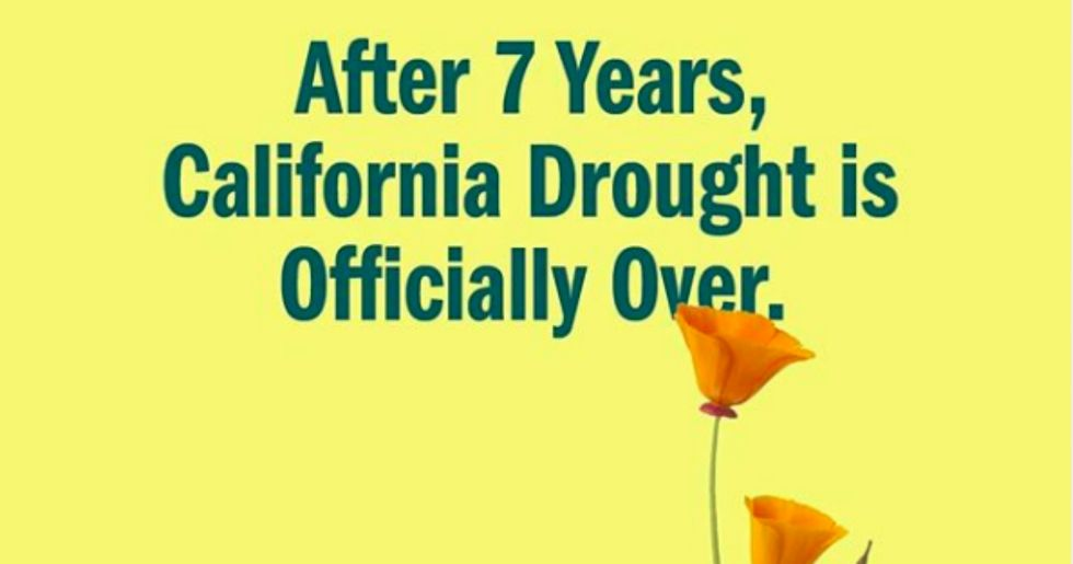 After 7 years, California drought is officially over.